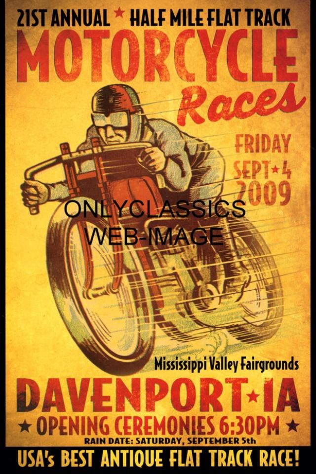 Vintage poster   Harely Davidson