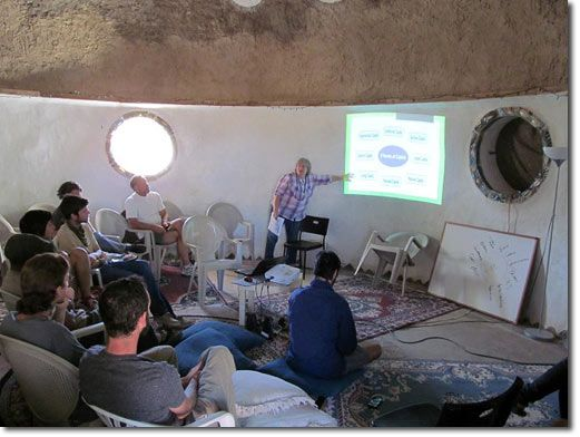 Geoff Lawton Visits Cal-Earth Permaculture Course