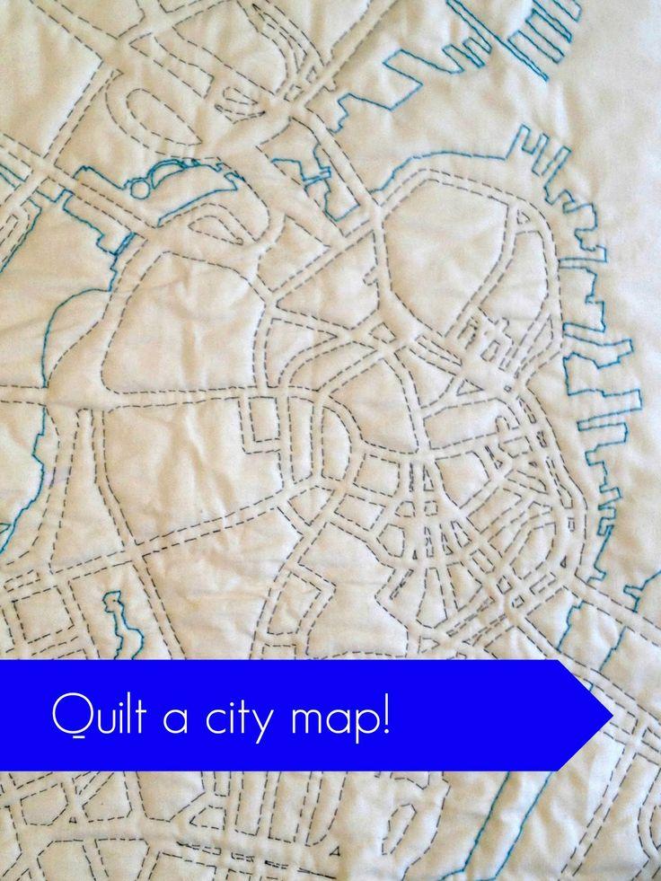 Quilt a city map (This one's Boston) Cashmerette