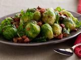 Brussel sprouts with pancetta and chestnuts - Jamie Oliver.  Made these today - they stole the show...