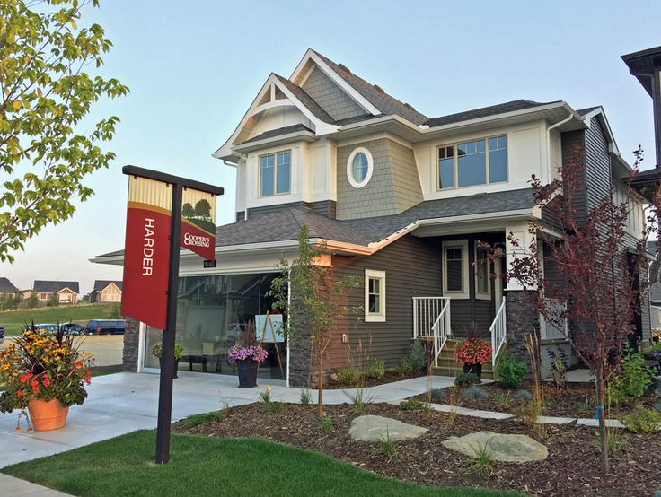 2017 Single Family Front Drive Showhome in Cooper's Crossing by Harder Homes #coopersairdrie