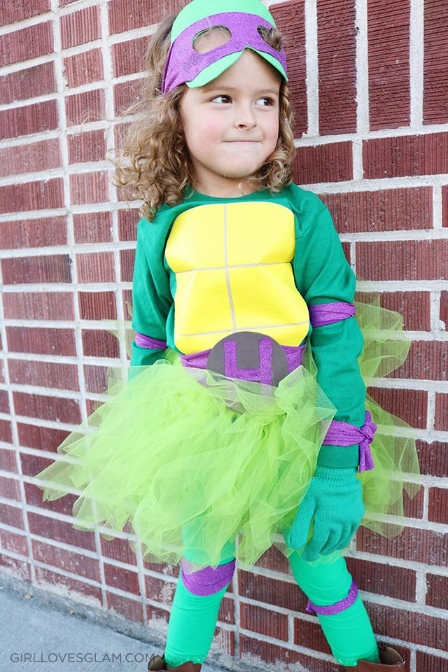 134 best fancy dress costumes images on pinterest costume ideas diy no sew ninja turtle costume for girls solutioingenieria Gallery