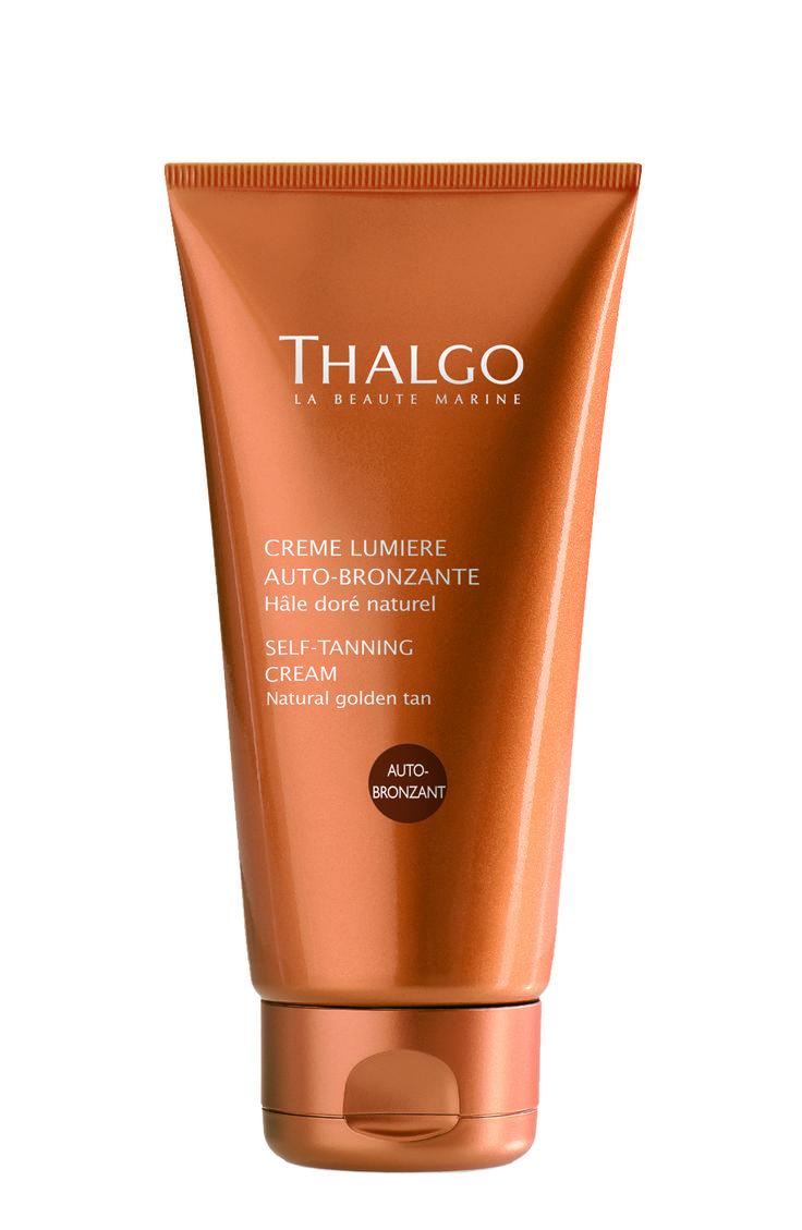 THALGO Sonne: Schimmernde Selbstbräunungscreme Erfrischendes Creme-Gel für eine natürlich wirkende Bräune für Gesicht und Körper