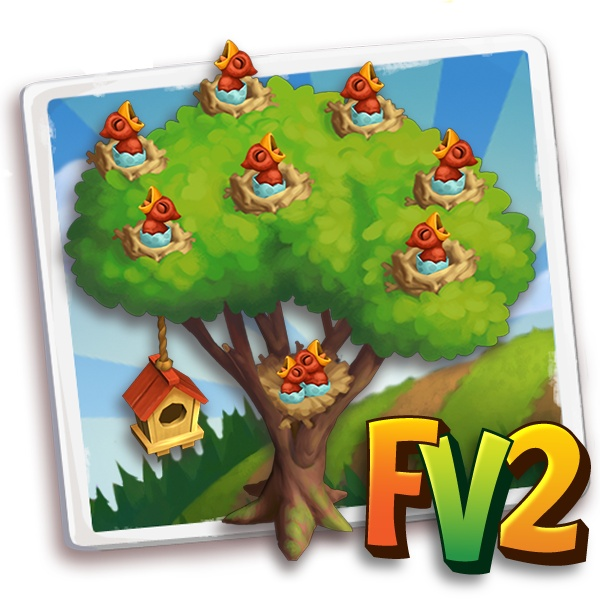 Farmville 2 on Zynga.. today I got my red bird tree  birdies