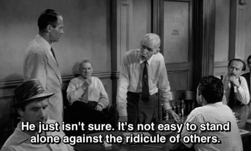 12 Angry Men (1957)  The gang liked it.  Very cleverly written.  Lots of OH-THAT JUST HAPPENED moments.