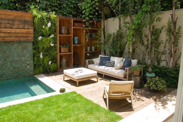 Muitas ideias legais para jardins pequenos