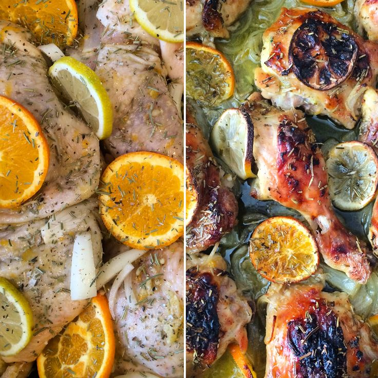 Pollo al Horno con Romero y Cítricos