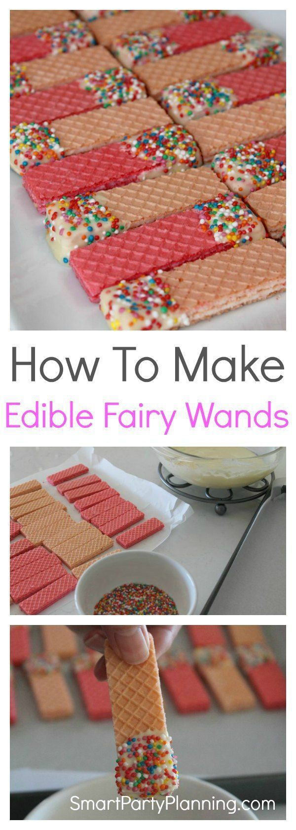 Learn how to make edible fairy wands the easy way. Whether you are having a fairy or a princess party, these wands are going to be the perfect party food. The kids love them, they are quick and easy to make and they look amazing.