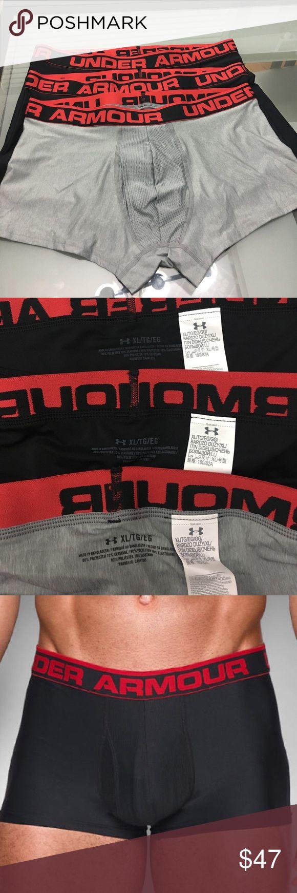 "NWOT men's Under Armor the original 3"" 6"" XL/TG NWOT men's Under Armor the original 3""6"" boxer XL/TG/EG  2-black 1-gray 1-black6"" 1-black3"",1-gray 6"" Under Armour Underwear & Socks Boxer Briefs"