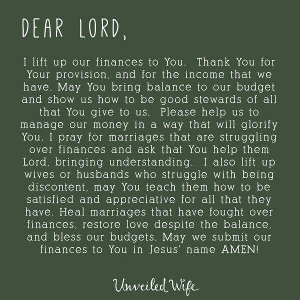 Prayer for finances♥