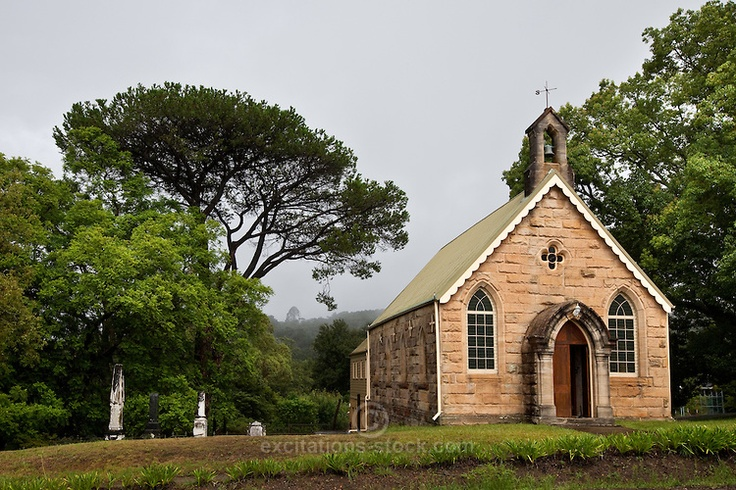 Historic Church at Kurrajong in the Blue Mountains of NSW, Australia. St David's Kurrajong Heights Uniting Church