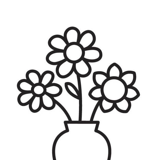 Realistic Bouquet Of Flowers In Vase Coloring Page For 6 Proud Ideas Fancyheader3like This Cute Col Flower Vase Drawing Flower Drawing For Kids Flower Drawing