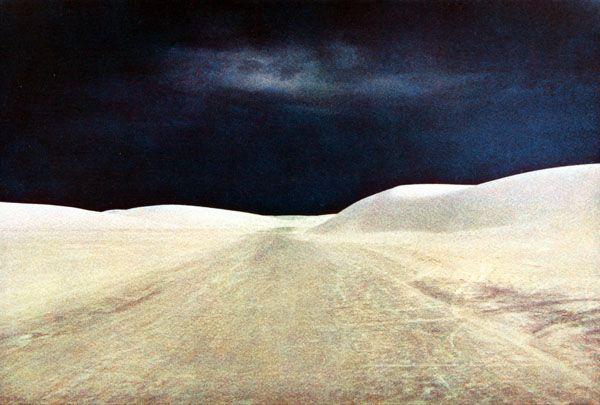 "Bernard Plossu ""White Sands, États-Unis, 1980"""