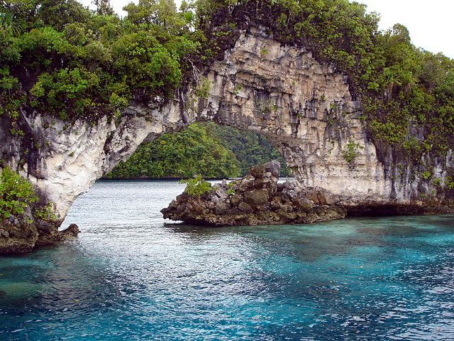 by Squalo Divers on Flickr. Arch in Rock Islands of Palau, Micronesia.