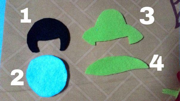 Tutorial membuat jepit rambut cantik dari kain flanel yang lucu dan imut