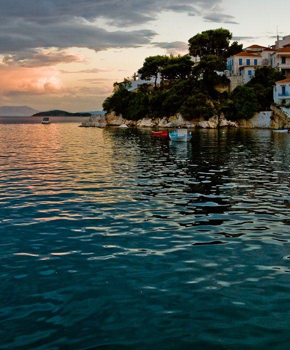 The harbor of Skiathos island