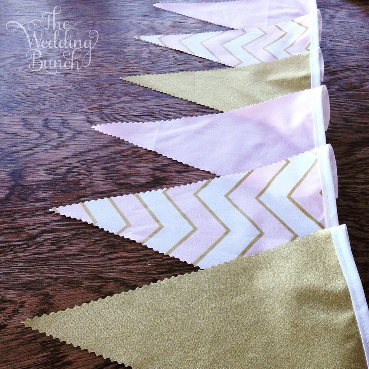 PINK & GOLD!!!  So pretty!  For this and lots of other pre-made bunting combos visit our shop on our website.