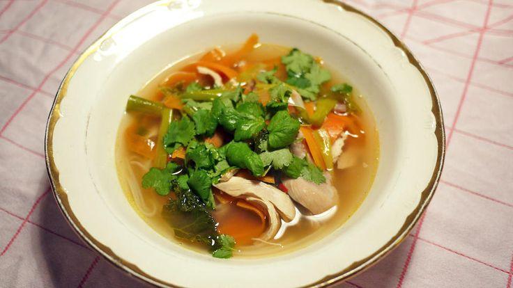 Næringsrik kyllingsuppe