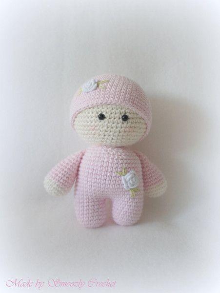 ✣ Süße Puppe in pastell rosa gehäkelt ✣ von ✣  Smoozly Crochet ✣ auf DaWanda.com