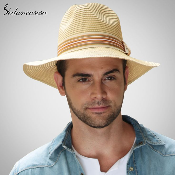 Fashion Men Summer Straw Sun Hat Wholesale High Quality Black Khaki Jazz Hats Like and Share if you want this #shop #beauty #Woman's fashion #Products #Hat