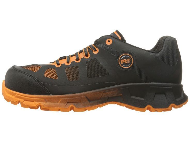 Timberland PRO Velocity Alloy Safety Toe Boot Men's Work Lace-up Boots Black Synthetic/Orange