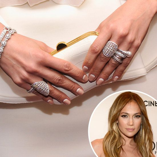 Jennifer Lopez adds her spin to the French manicure. What do you think?