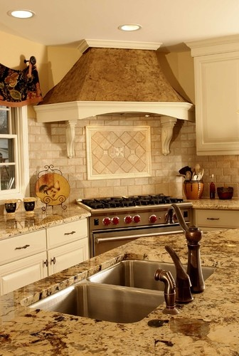 Delightful Colors: Subway Tile, Counter, Cabinets Corner Stove Design, Pictures,  Remodel,