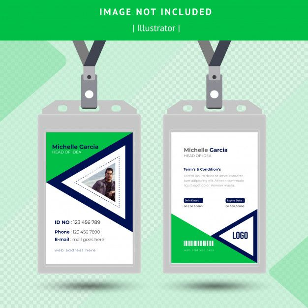 Green Id Card Design Card Design Cards Design