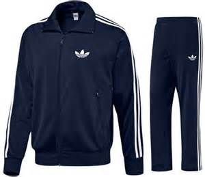 Addidas track suit 80's-That was the trend for gym class. I had a red one! Lovely.....