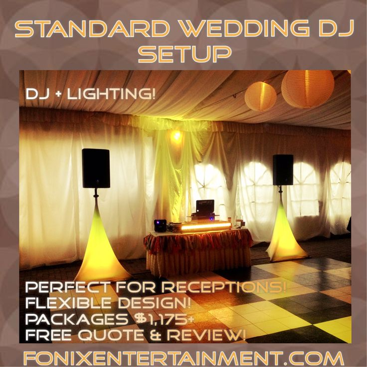 Our Most Por Wedding Reception Dj Package For 2016 Pick Out Your Colors To