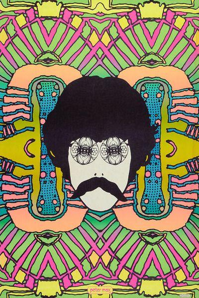 Psychedelic Self Portrait Peter Max (1968)- Fantastic artist!