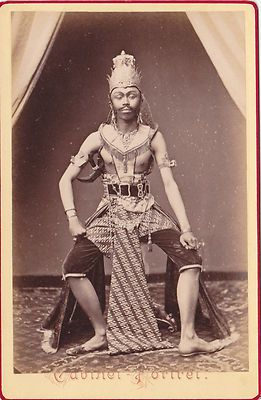 Java Indonesia 19th Century Cabinet Photo Traditional Ethnic Dancer Male | eBay
