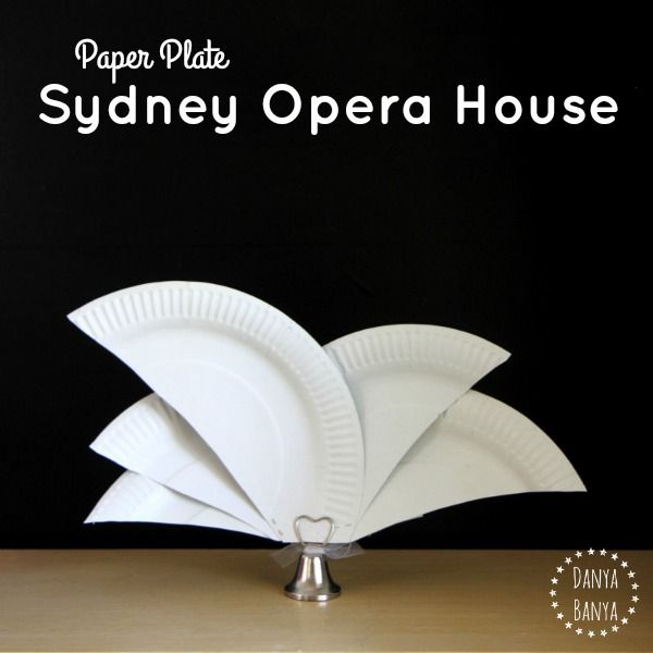 How to make a standing Sydney Opera House craft. Easy craft idea to learn about one of Sydney's iconic buildings or as an Australia Day table decoration.