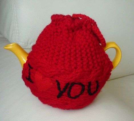TeaPot Cozy Gift for Mom Knitted tea cosy tea pot by IskaCreations