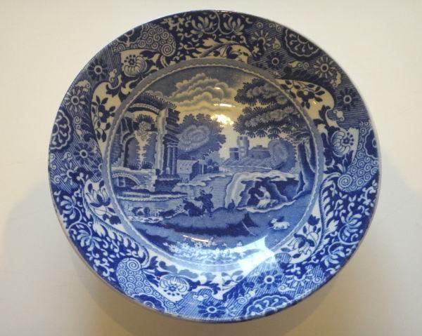 SOLD//spode's italian blue small plate イギリス スポード(イタリアンブルー)の小皿 (1000円)