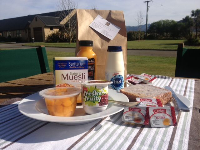 Breakfast provisions at Vintners Retreat - view included free of charge : )