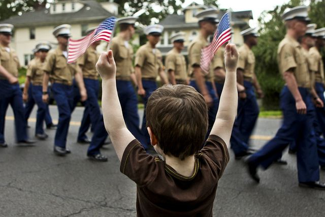 Raise your hands if you love Marines!