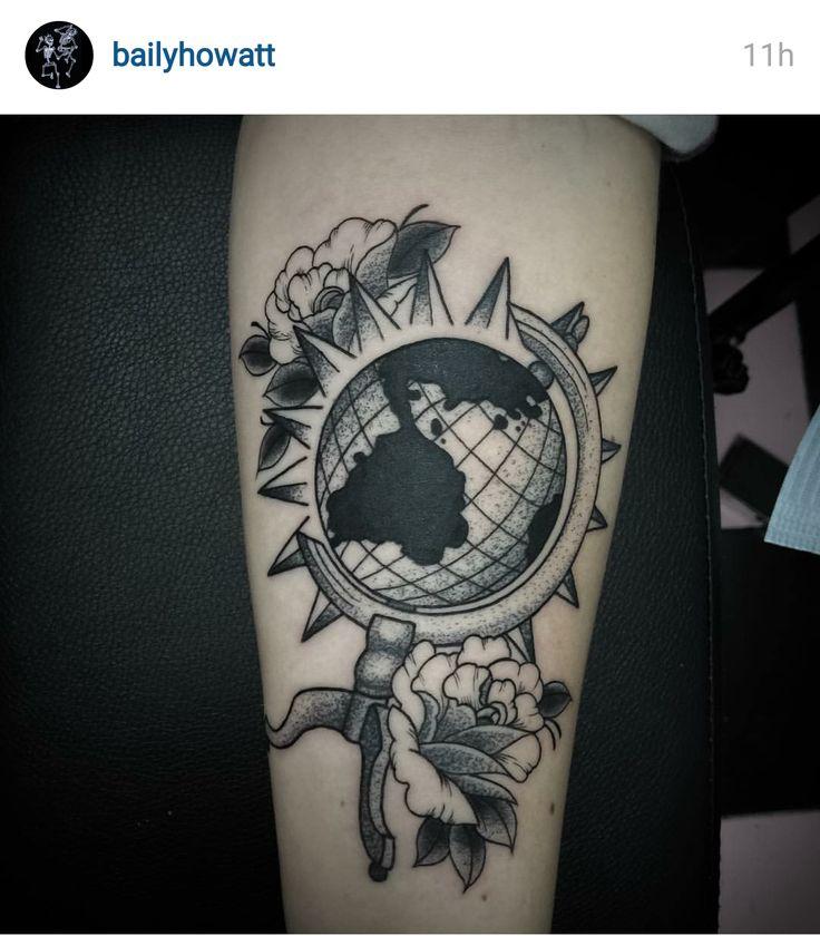 world globe tattoo tattoos pinterest globe tattoos