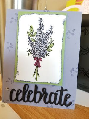 Stampin' Up! with Melissa - SU - Lots of Lavender stamp set  Celebrate You thinlet dies