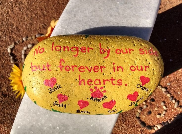 Rock that I painted for my parents grave at Ft. Bliss Natl. Cemetery