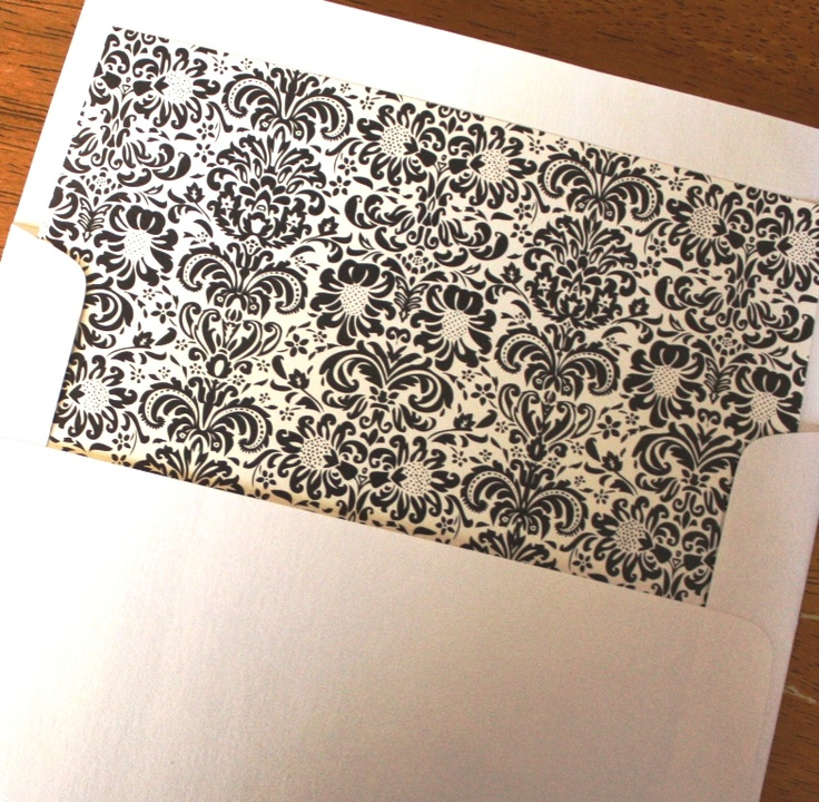 Best Envelope Liner Patterns Images On   Envelope