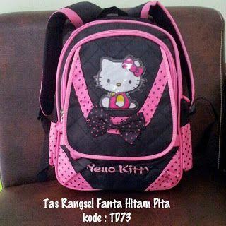 Toko Cherish Imut: Tas Punggung Hello Kitty Murah Grosir Ecer Hitam F...