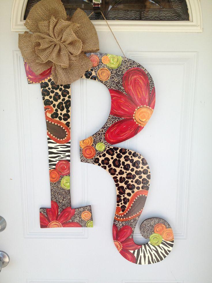 89 best door hangers images on Pinterest | Wooden door hangers ...