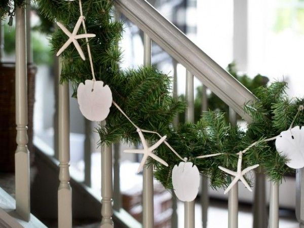 We just love that HGTV has even gotten into the Coastal Christmas decorating craze! They recently featured, Designer Casey Noble, who showcased 10 ways to bring a cool, casual and coastal vibe to your home during the holidays. One of the easiest