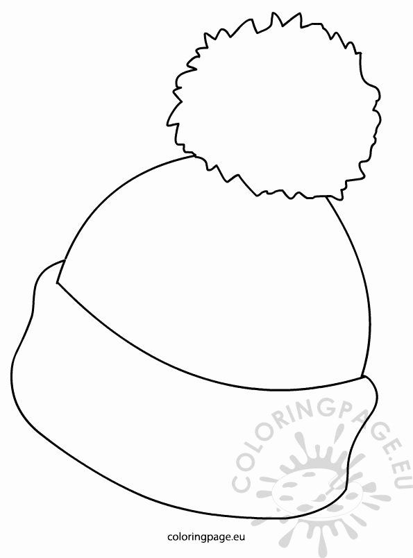 Winter Hat Coloring Page New Winter Hat Picture Coloring Page In