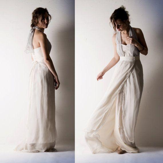 Due pezzi abito da sposa Abito da sposa bohemien di larimeloom