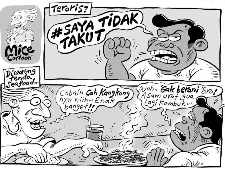 Mice Cartoon, Kompas - 17 Januari 2016: #SayaTidakTakut