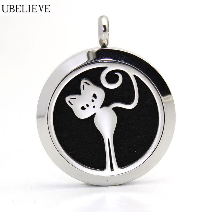 Find More Pendants Information about Cat Design Stainless Steel Jewelry Essential oil Aromatherapy Diffuser Necklace Silver Round  Magnetic Aroma Scent Locket ,High Quality design locket,China magnetic locket Suppliers, Cheap aromatherapy diffuser necklace from U Believe Jewelry & Store on Aliexpress.com
