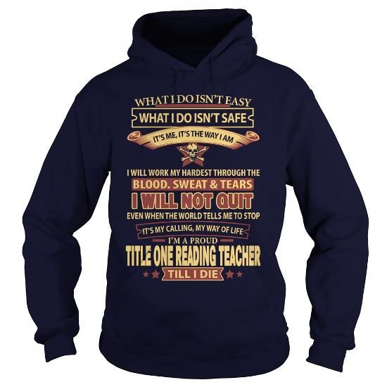TITLE ONE READING TEACHER T Shirts, Hoodies. Check price ==► https://www.sunfrog.com/LifeStyle/TITLE-ONE-READING-TEACHER-Navy-Blue-Hoodie.html?41382 $35.99
