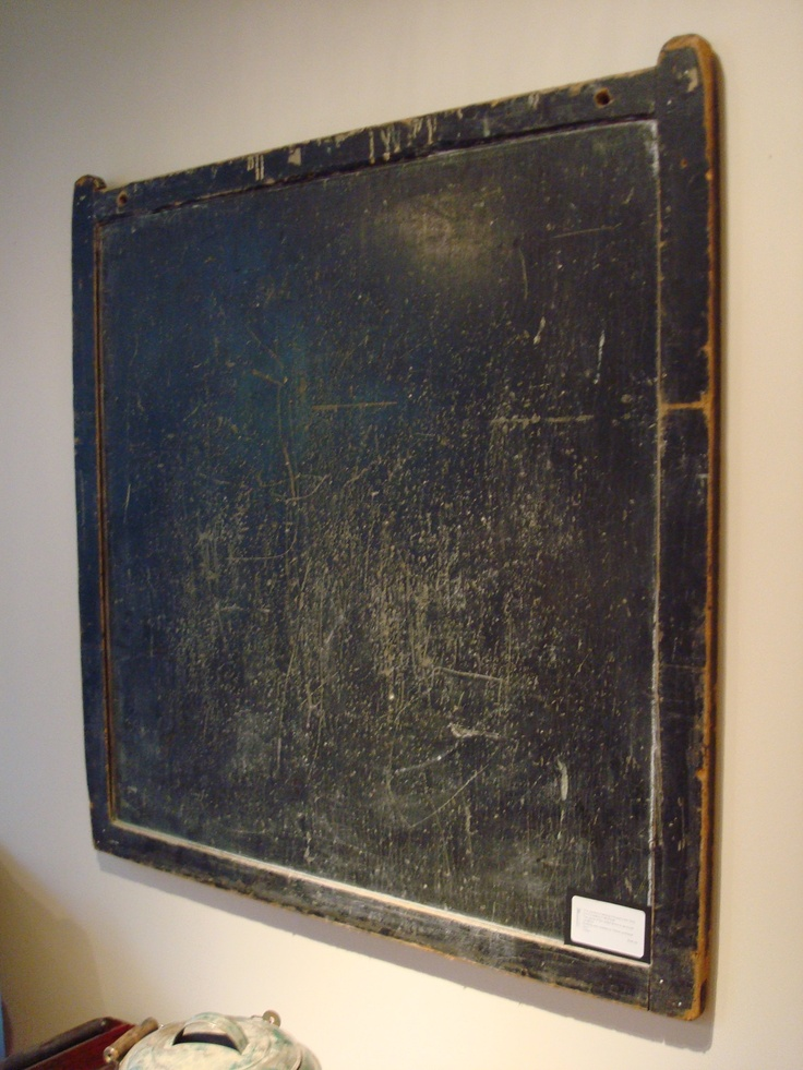 Old 1920s school chalkboard